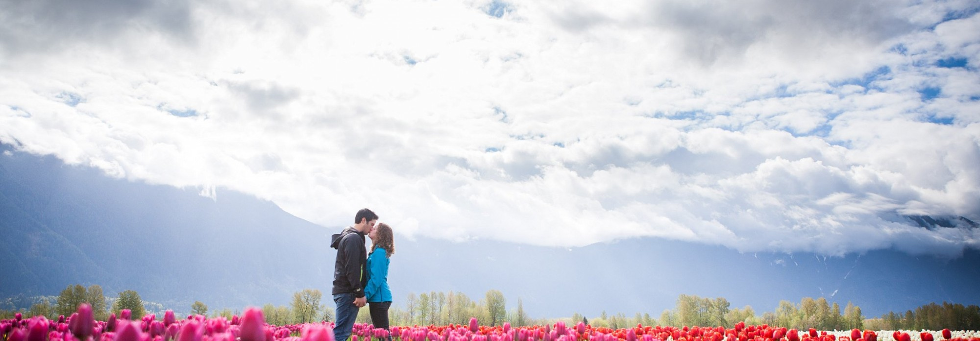 Romantic Engagement Photography, Tulips